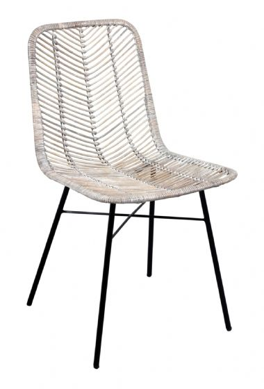 Casares Grey Rattan Dining Chair - Special Order